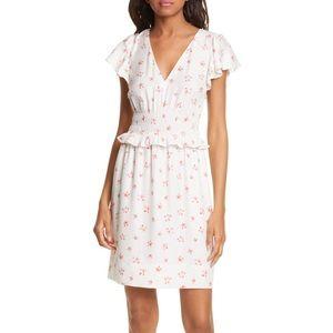 NWT Rebecca Taylor Maui Fleur Jacquard Dot Dress M